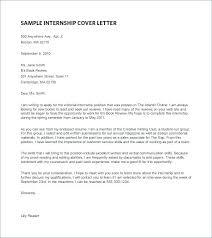 writing sample for internship cover letter template internship internship cover letter ideas of