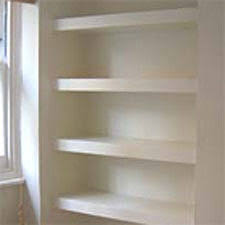 How To Make Floating Shelves In Alcove floating shelves in the alcove For Home Pinterest Alcove 1
