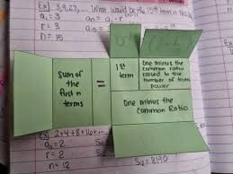 sum of the first n terms geometric foldable inside