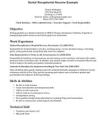 Medical Receptionist Resume Template Enchanting Dental Receptionist Resume Examples Resume Ideas Pro