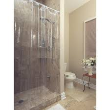berrnour home venice collection heavy duty 10 gauge 72 in x 72 in clear shower curtain liner with rust proof metal grommets swr8000 72x72 the home depot
