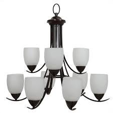 yosemite home decor mirror lake 9 lights chandelier with white etched glass