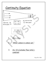 continuity equation physics. 9. page 9 of 21 continuity equation physics a
