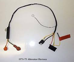 harness alternator engine broncograveyard com alternator harness 71 72