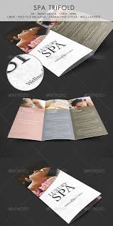 Spa Brochure Template Mesmerizing Spa Wellness Trifold Template GraphicRiver Item For Sale
