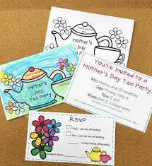 Party Rsvp Template Mothers Day Tea Party Invitations Rsvp Cards
