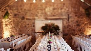 wedding venue in hobart with catering on tables