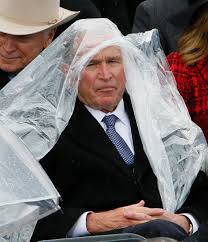 ex president george w bush spends donald trump s inauguration ex president george w bush spends donald trump s inauguration hilariously battling a poncho