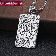 2019 2019 custom best friends pendant 100 s990 sterling silver jewelry men women vintage peace amulet necklace pendant making p134 from taihangshan