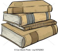450x398 pile of old books a stack of antique cartoon books clip art