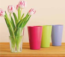 indoor outdoor coloured plastic flower vase plant pot conner plants flowers