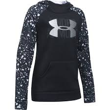 under armour sweatshirts for girls. under armour girls\u0027 novelty big logo fleece hoodie sweatshirts for girls