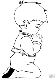 Small Picture Praying Little Boy coloring page Free Printable Coloring Pages
