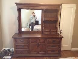 furniture repurpose ideas. Amazing Teak Wooden Bedroom Vanities Mirror With Shelves Also Drawer Storage As Inspiring Vintage Repurposed Furniture Ideas Repurpose