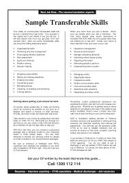Transferrable Skills Resume