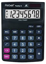Rebell Re Panther 8 Bx Desktop Calculator Amazon Co Uk