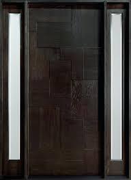 Front Doors  Dark Wooden Front Doors Modern Wood Front Entry Solid Wood Contemporary Front Doors Uk