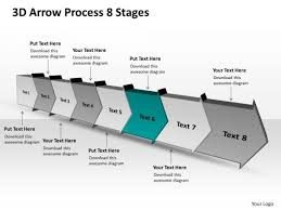 3d Flow Chart Powerpoint 3d Arrow Process 8 Stages Chart Flow Chart Free Powerpoint