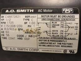 ao smith motor wiring diagram ao wiring diagrams online trouble wiring a reversable multi voltage cap start motor