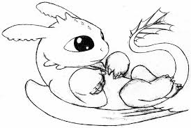 Baby Dragon Coloring Pages Easy Page Printable 736790 Attachment