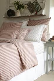 red ticking stripe bedding
