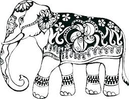 Free Elephant Coloring Pages Free Elephant Coloring Pages Pattern