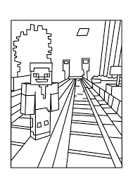 Minecraft Coloring Pages Enderman Danielweb Me