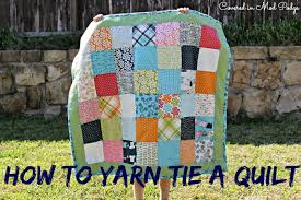 Covered in Mod Podge: How to Yarn Tie a Quilt {or busting out old ... & How to Yarn Tie a Quilt {or busting out old skills} Adamdwight.com