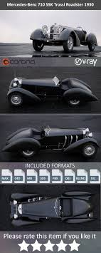 The most common mercedes benz ssk material is metal. Mercedes Benz Ssk Roadster 1930 By Bug Irl 3docean