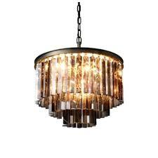 odeon chandelier clear glass fringe round 3 tier chandelier odeon empress crystal chandelier