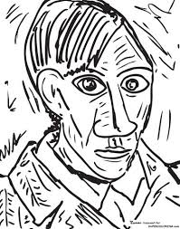 Signup to get the inside scoop from our monthly newsletters. Self Portrait 1907 By Pablo Picasso Coloring Page Free Printable Coloring Pages Picasso Art Pablo Picasso Art Picasso Coloring