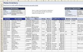 Home Insurance Inventory List Template Major Magdalene