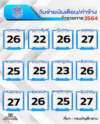 เงินเดือน ปี 2564 เข้าวันไหน - ครูอาชีพดอทอคม