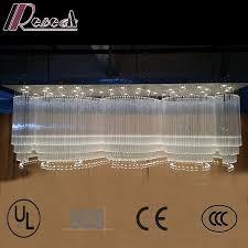 hotel lobby large wave shapes luxury k9 crystal chandelier