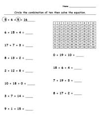Editable Hundreds Chart Editable Differentiated Grouping 10 Addition Worksheet With Hundreds Chart