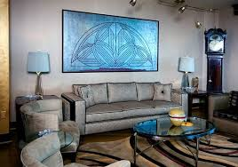 art deco living room furniture. view in gallery art deco living room with silver couch and blue painting furniture e