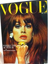 vogue cover 1960s hairstyle make up june 1965