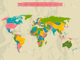 free editable maps editable world map with all countries royalty free cliparts