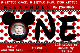mickey mouse 1st birthday invitations ideas drevio invitations red card mickey mouse 1st birthday invitations