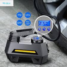 Portable Air Compressor Tire Inflator Car Tire Pump With Digital Pressure  Gauge (150 Psi 12V Dc), Bright Emergency Flashlight|Inflatable Pump| -  AliExpress