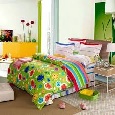 lime green comforter sets red and yellow girls polka dot circles print for amazing property bedding