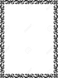 Beautiful Basic Design Border Frame In Vector Lines Monochrome