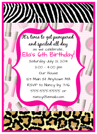 Birthday Party Invitation Spa Sleepover Birthday Party Invitations Crafty Chick Designs