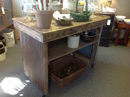 Primitive Kitchen Island Repurposed From Old Factory Workbench ..On sale!