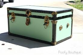 old worn white shabby chic trunk coffee table