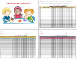 Registro Para El Control De Asistencia Diario Por Meses