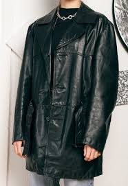 90s vintage leather jacket