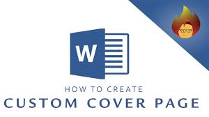 How To Create A Custom Cover Page Microsoft Word