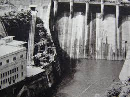 古い絵葉書 相模湖 ダム 発電所 嵐山橋よりの遠望 神奈川 G95