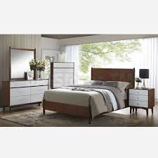 Mid Century Modern Furniture Bedroom Sets Oakwood Mid Century Modern 4 Pc Bedroom Set Bedroom Sets Coa